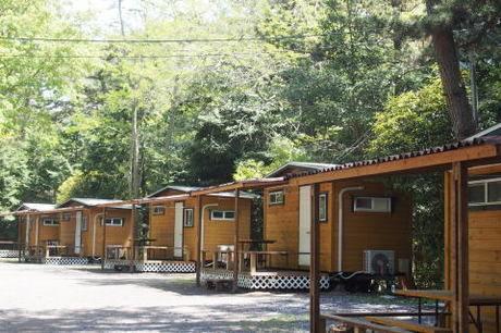 大洗キャンプ場のウッドキャビン