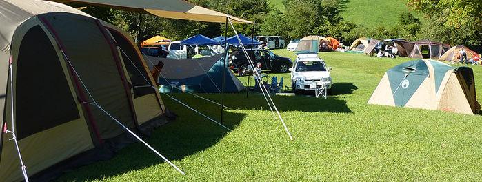 三河高原キャンプ村でのキャンプの様子