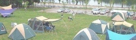 サンビレッジ徳良湖オートキャンプ場でのキャンプの様子