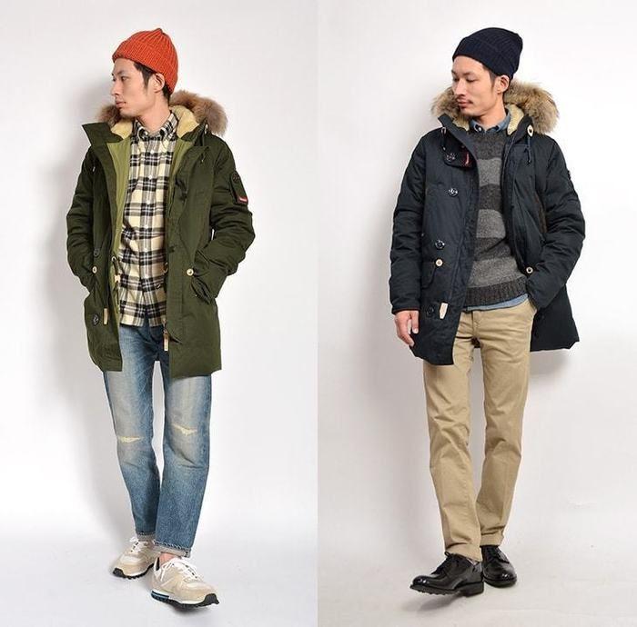モッズコートで暗くなりがちな冬ファッションに色味を加えるコーディネート
