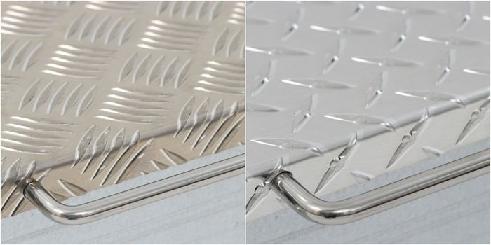 2種類のカラーバリエーションの縞板鉄板 ver2.0