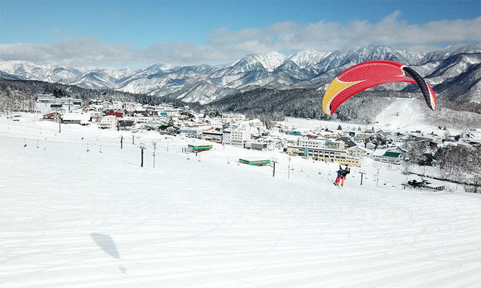 銀世界の白馬八方尾根スキー場
