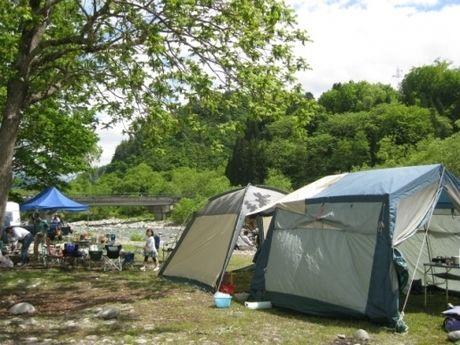 タキタロウ公園オートキャンプ場でのキャンプの様子