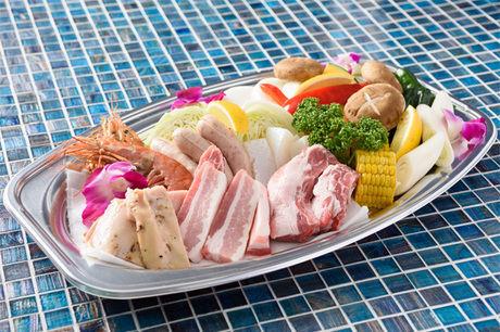 カーメルビーチクラブのバーベキュー食材