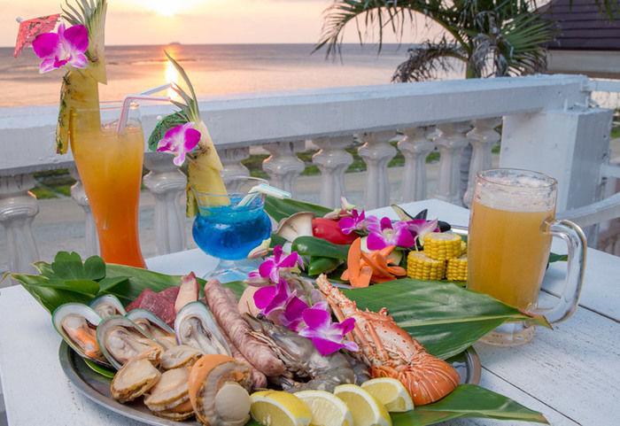 モリマーリゾートホテル フィッシャーマンズウォーフの海の幸のバーベキュー