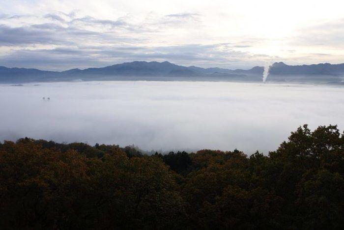 PICA秩父のミューズパーク展望台から見る雲海