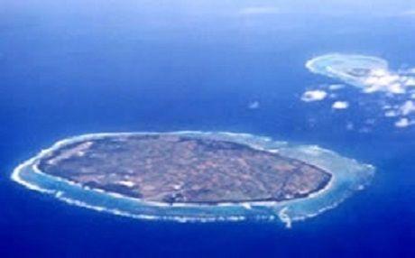 多良間島の上空からの写真