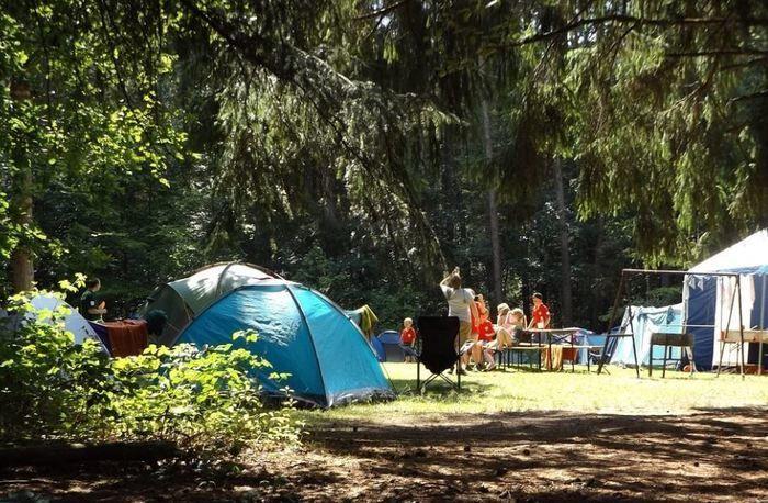 稲ヶ崎キャンプ場でのキャンプの様子