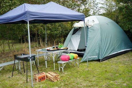 休暇村 讃岐五色台でのキャンプの様子