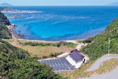 竜ヶ浜キャンプ場の外観