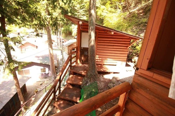 西丹沢大滝キャンプ場の宿泊施設内