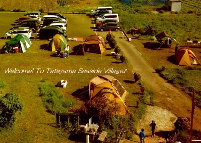 館山シーサイドビレッジのテントサイト