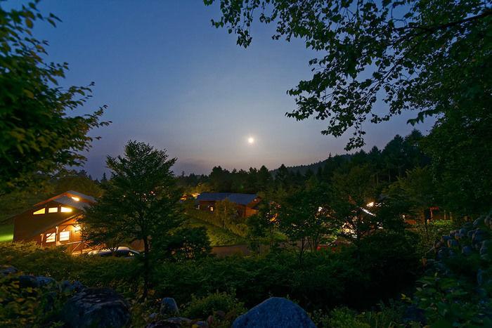 夕暮れのうるぎ星の森オートキャンプ場