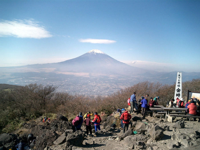 金時山山頂からの風景
