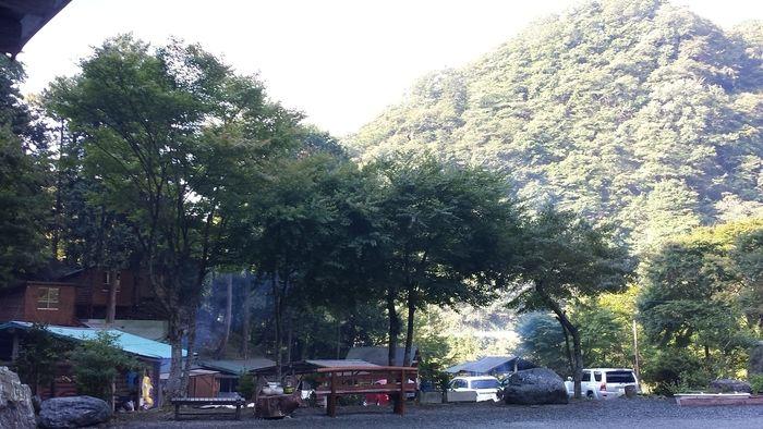大滝キャンプ場の外観
