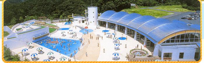 大子広域公園オートキャンプ場 グリンヴィラの温水プールの外観