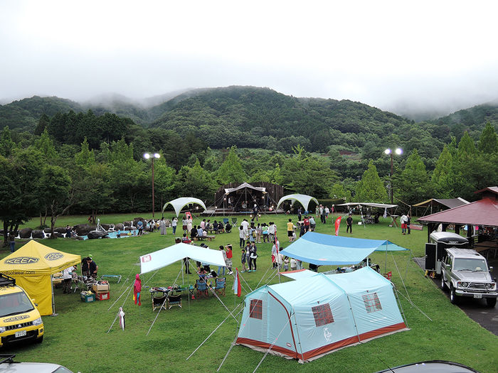 モビリティ―パークのキャンプ場の様子