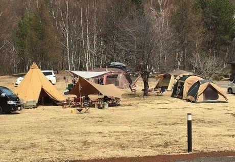 飛騨たかね野麦オートビレッジでのキャンプの様子