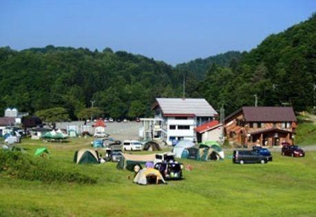 飛騨高山キャンプ場でのキャンプの様子