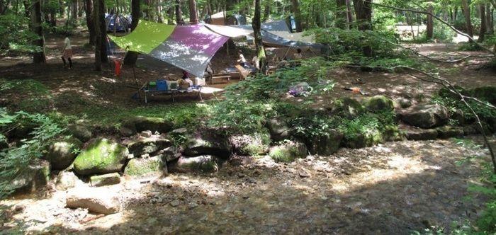 ひるがの高原キャンプ場でのキャンプの様子