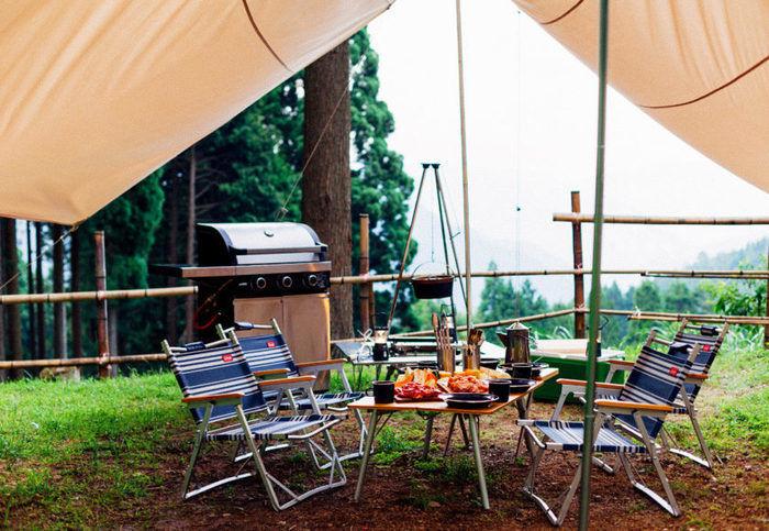 若杉高原おおやキャンプ場の様子