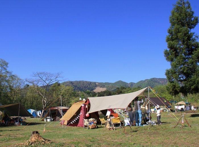 神鍋高原キャンプ場でのキャンプの様子