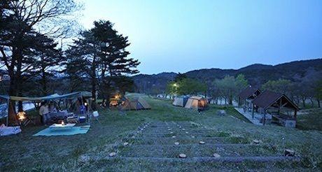 津黒高原キャンプ場でのキャンプの様子
