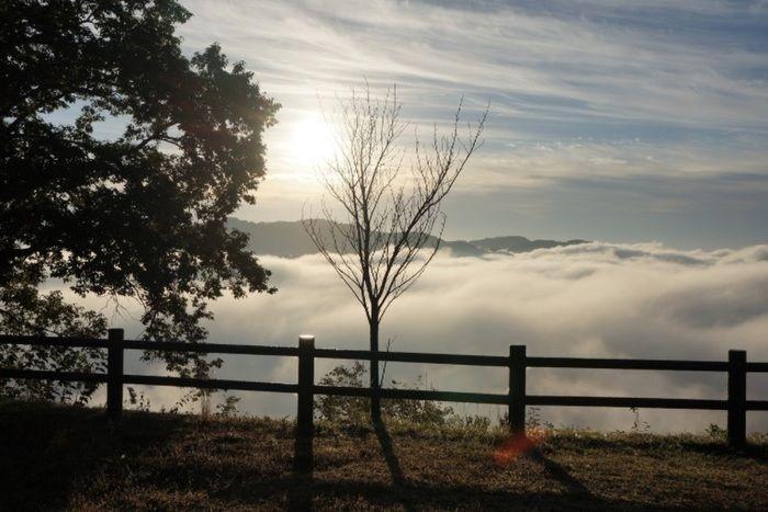 西山高原キャンプ場から見える景観