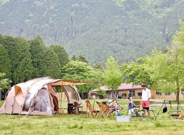 ファミリーキャンプの様子