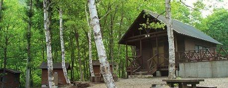 秋保二口キャンプ場のバンガロー