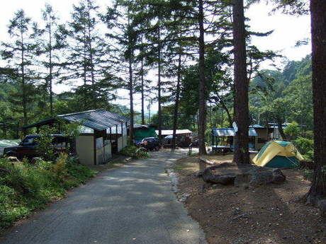 大滝キャンプ場のテントサイト