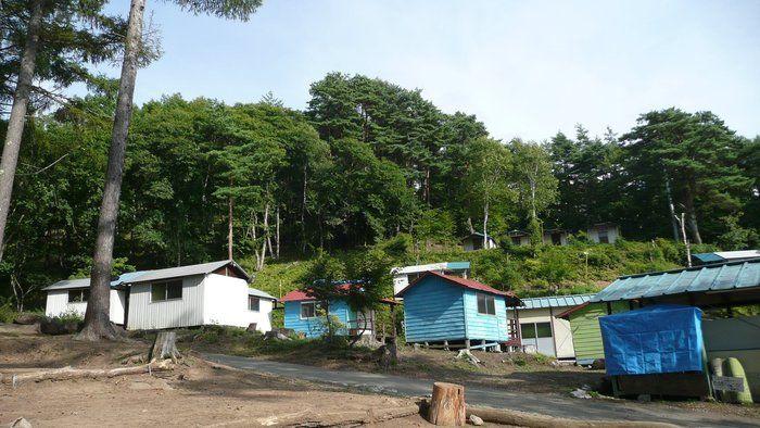 大滝キャンプ場のバンガロー