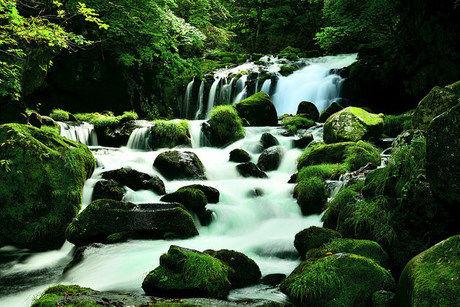 大滝キャンプ場の近くを流れる川