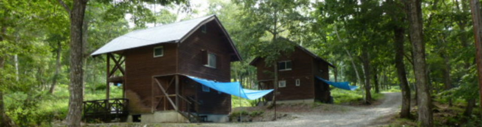 山之村キャンプ場のコテージ