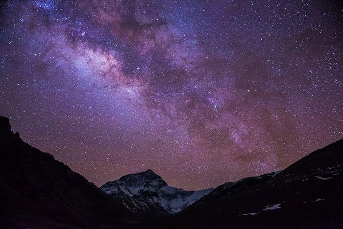 満天に広がる星空