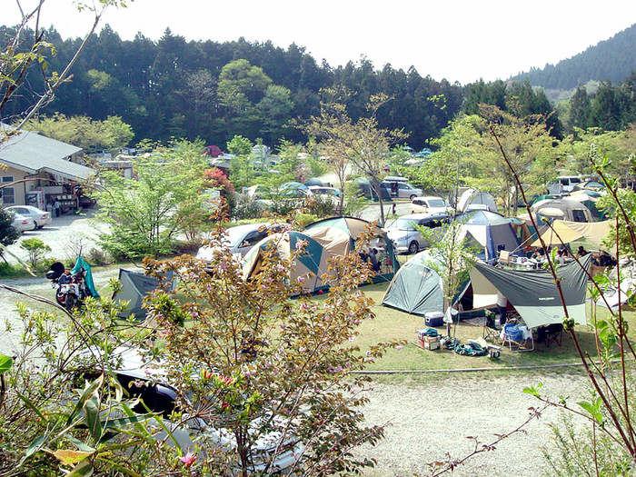 那須たかはらオートキャンプ場でのキャンプの様子
