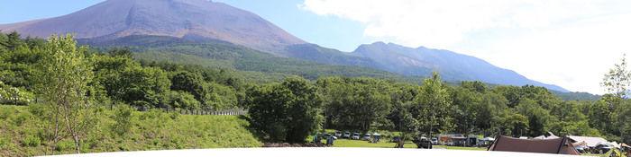 浅間園オートキャンプ場の山の写真