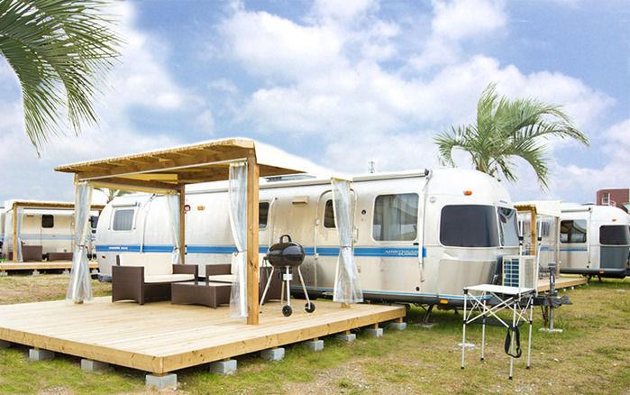 グランキャンピング パームガーデン舞洲のエアストリーム宿泊施設