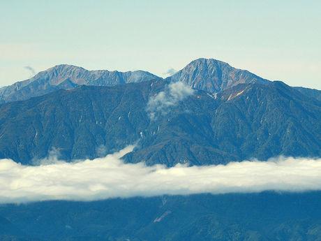 金峰山頂上からの景色