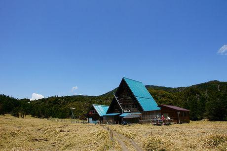 縞枯山荘の外観