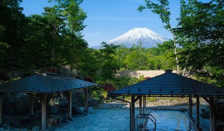 紅富士の湯と富士山