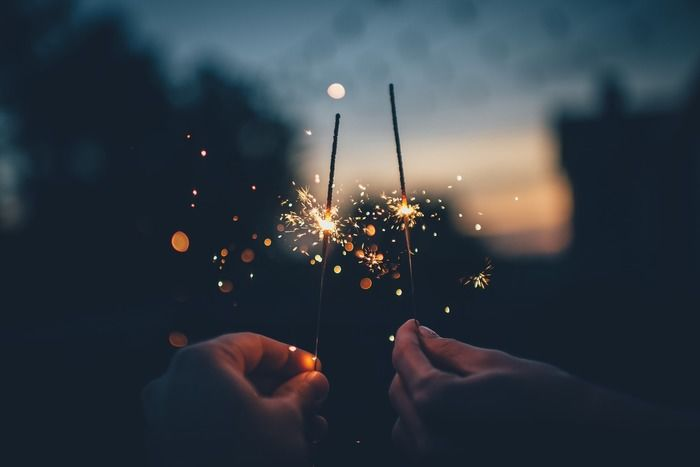手持ち花火の火花
