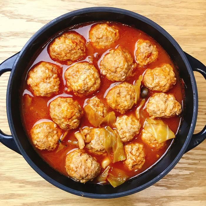 肉団子のトマトスープ