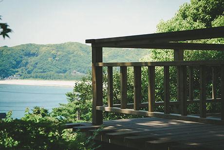 ヴィラ弓ヶ浜のコテージ