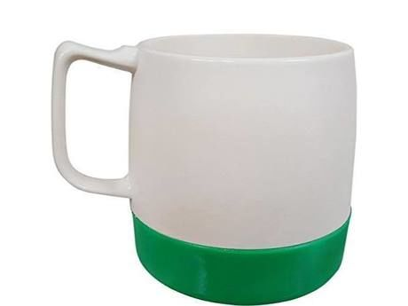 8oz. Mug 2TONE Off White/Green