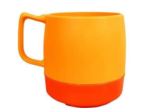 8oz. Mug 2TONE Yellow/Orange