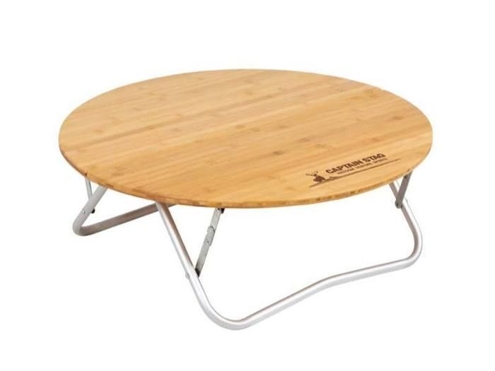 アルバーロ竹製ラウンドテーブル65