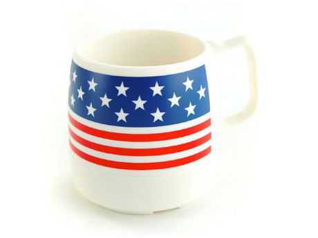 Wide Printed 8 oz.Mug Off White / STARS&STRIPES