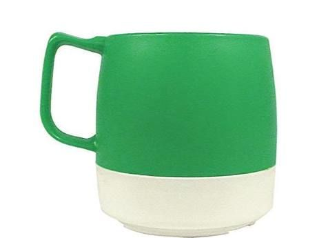 8oz. Mug 2TONE Green/Off White