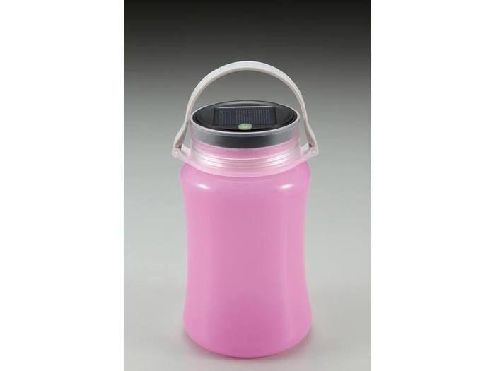 フローティングLEDランタン<ソーラー&USB充電式>ピンク